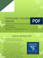 community volunteering debrief
