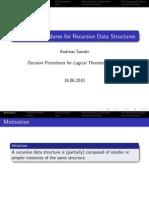Decision Procedures for Recursive Data Structures