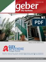 Ratgeber aus Ihrer City-Apotheke – November 2016