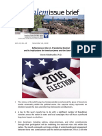 Reflections on the U.S. Presidential Election and its Implications for American Jewry and the State of Israel