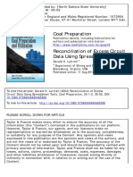 Coal Preparation Volume 24 Issue 1-2 2004 [Doi 10.1080_07349340490465598] Luttrell, Gerald H. -- Reconciliation of Excess Circuit Data Using Spreadsheet Tools