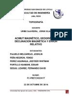 Informe - Topografia II