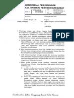 Surat Klarifikasi Andalalin Dari KemenHub