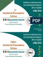 Jueves 29 - Maricarmen Garcia