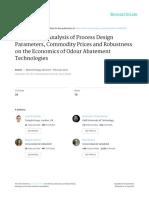 Analisis de Parametros Economicos en Remocion de Olor
