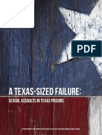 Joint Report on Sexual Assault in Texas Prisons