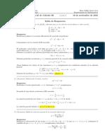 Corrección Primer Parcial Cálculo III, 16 de noviembre de 2016.
