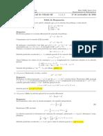 Corrección Primer Parcial Cálculo III, 17 de noviembre de 2016.