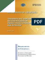IndicadoresSociodemograficosProductivosFinancierosChuquisaca