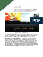 Touch Bar Trên MacBook Pro Là Câu Trả Lời Cho Surface Dial Của Microsoft!
