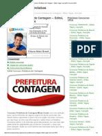 Concurso Prefeitura de Contagem - Edital, Vagas, Inscrição Concurso 2016