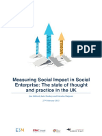 Measuring Social Impact in Social Enterprise Report