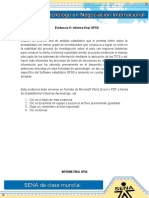 Evidencia 9 Informe Final SPSS
