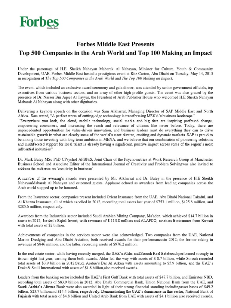 130515-TOP 500 COMPANIES IN ARAB WORLD - Final release222