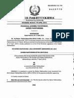 KP Local Govt Act 2013-Amendments