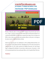 CA4Examz- National Parks in India