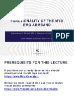 Functionality of the Myo EMG Armband
