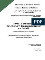 UTM - Cercetarea Funcționării Transportoarelor Cu Bandă