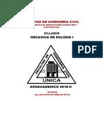 Sillabus Mec. de Solidos I