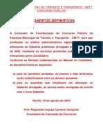 Prova Agente de Transito Jaboatão 2003 Gabarito