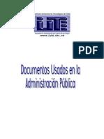 Documentos Mas Usados en La Admin is Trac Ion