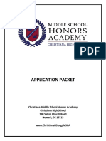 CHS MSHA 2017 2018 Application