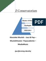 Studiegids Master Muziek 2016-2017