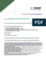 BASF - Tabela Preços 2013