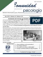 Bolet+¡n Informativo Alumnos -Comunidad Psicolog+¡a-No243