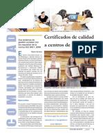 Certificados de Calidad a Centros de Psicología -Gaceta UNAM 08-04-2013
