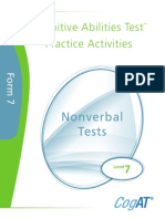 Practice Activities Nonverbal Level 7