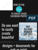 How to Use Canva to Create Quick Facebook Photos - Kev Chavez - Your Keen & Crisp VP