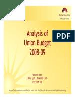 Union Budget 2008-09