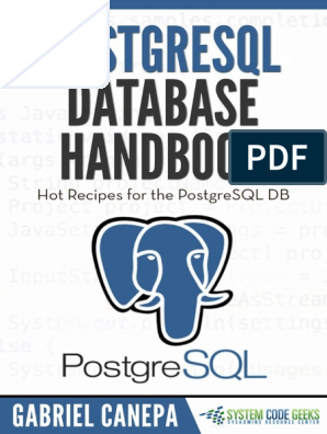 PostgreSQL-Database-Handbook pdf | Postgre Sql | Database Index