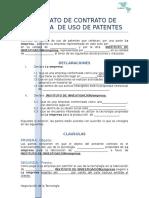 Formato de Contrato de Licencia de Uso de Patentes