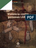 INFORME CADDHH Sobre Violencia Personas LGBTI
