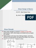 Beam Shear Design
