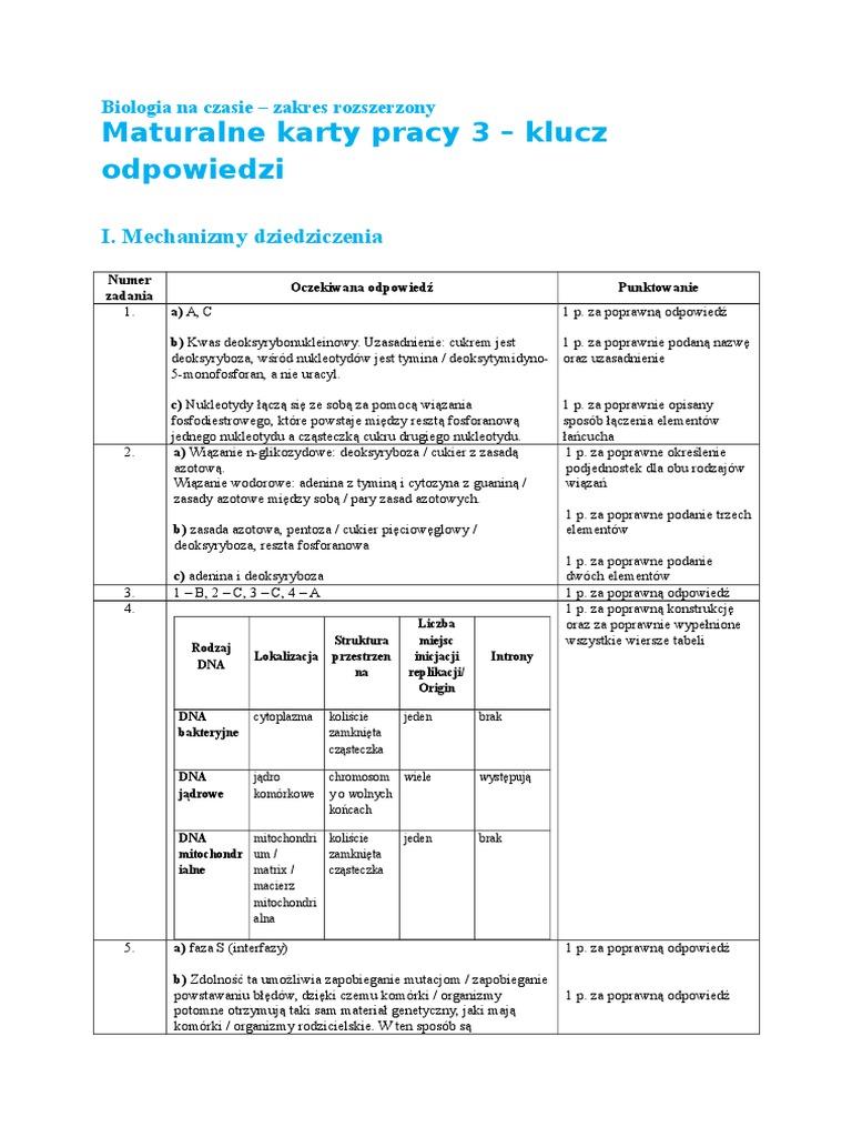 biologia na czasie 3 maturalne karty pracy pdf