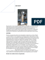 informe Generador de Van Der Graff