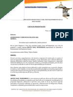 Carta de Presentación a Empresas