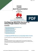 Sdh Service Creation Single Station