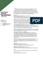 Michael Taliaferro Resume