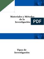 Materiales y Metodos de Investigación