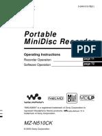 Sony Mzn510 Manual