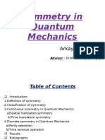 Symmetry in Quantum Mechanics