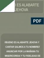 Bueno Es Alabarte Jehova Cumbia