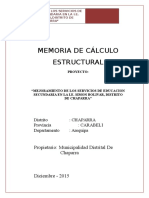 Memoria de Calculo Colegio