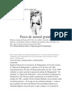 50 AÑOS DE CONFLICTO ARMADO Pasos de Animal Grande