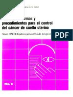 Manual de Normas y Procedimientos Para El Control Del Cancer de Cuello Uterino