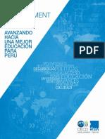Avanzando Hacia Una Mejor Educacion en Peru